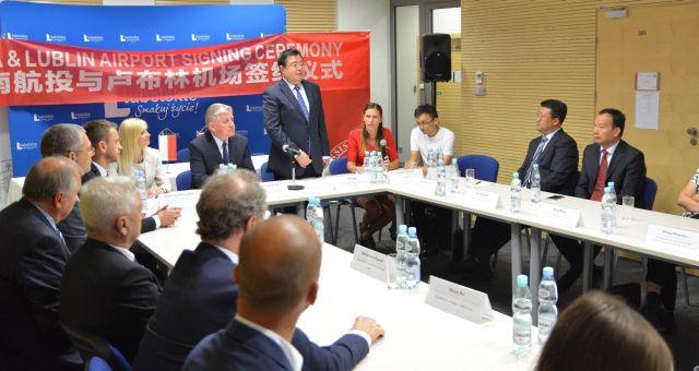 Tłumaczenie ustne podczas przyjazdu delegacji z Prowincji Henan w Urzędzie Marszałkowskim