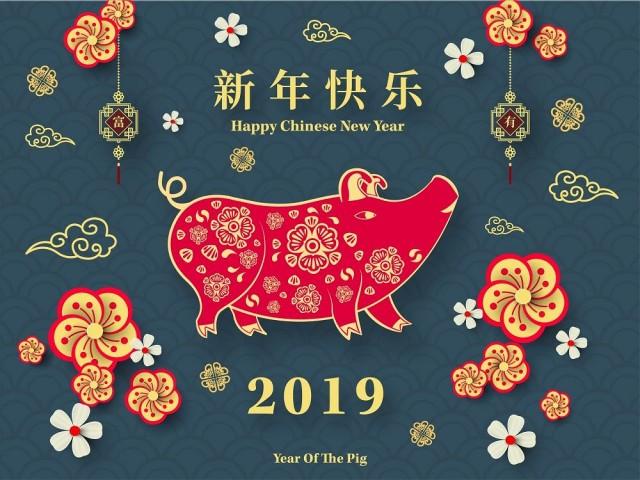 Wszystkiego najlepszego z okazji Nowego Roku Świni!